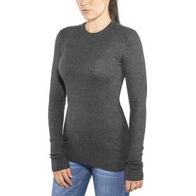 Icebreaker Valley Slim Crew Sweater Women Charcoal Heather